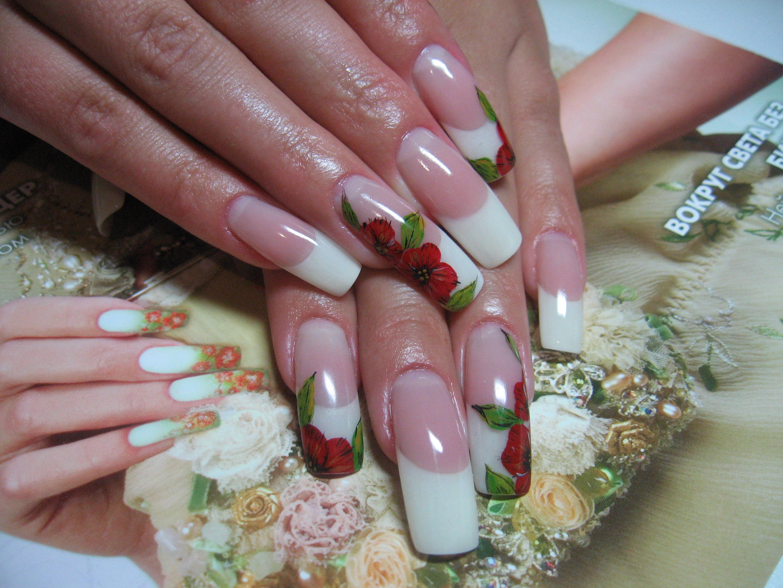 Фото росписей квадратных ногтей